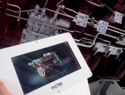 Дополненная реальность для макета дизельного двигателя V12 12ДМ-185А
