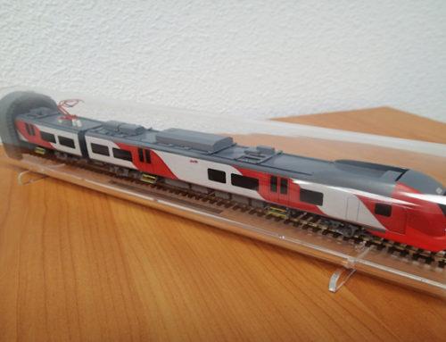 Модель электропоезда «Ласточка» по заказу завода «Уральские локомотивы»